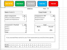 9 1 Edexcel Gcse Pe Tracker And Grade Calculator Sample