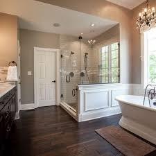 wood tile flooring bathroom.  Bathroom Free Standing Tub Wood Tile Floor Huge Double Shower  Master Bathroom By  Sandyadler Intended Wood Tile Flooring Bathroom L