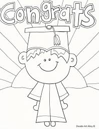 Kindergarten Graduation Coloring Pages Graduation Coloring Pages Doodle Art Alley