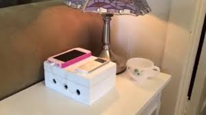 Make Charging Station How To Make A Charging Station Cord Box Youtube