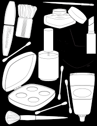 Small Picture makeup coloring page Illustration Pinterest Makeup Adult