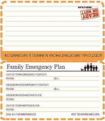 Family Emergency Plan In Html