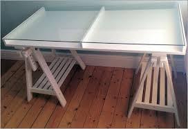 attractive ikea glass top desk flickr sharing in with regard