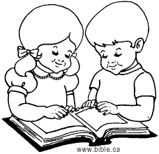 Small Picture Coloring Pages Reading Coloring Page Of Child Reading The Bible In