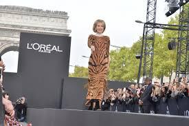 l oréal paris holds chs Élysées beauty fashion show