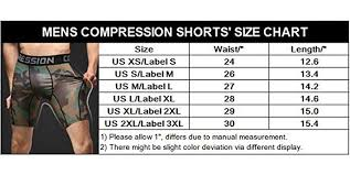 Iymoo Men Compression Shorts Sports Running Print Under Base Layer Shorts Tights Multi Color