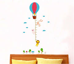 Uberlyfe Hot Air Balloon Height Chart Wall Sticker 5 Ft Size 3 Wall Covering Area 160cm X 80cm Ws 000939