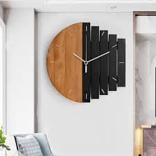 wood wall clock household artistic decor