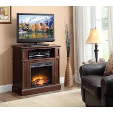 com 31 mainstays a fireplace heater for tv s up to 42 provides heating up to 400 sq ft and a flame with or without heating cherry finish