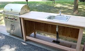 build an outdoor kitchen cabinet countertop with sink