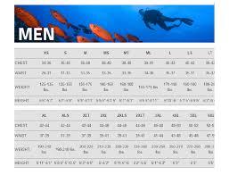Henderson Size Chart Men Yukon Scuba