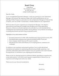 Free Sample Cover Letter For Operations Manager Cover Letter