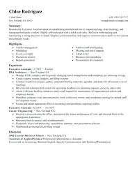 Resume Sample For Executive Assistant Best of Executive Assistant Resume Senior Administrative Assistant Resume By
