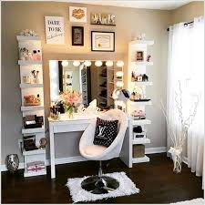 to be perfect makeup vanity table on bedroom vanity be equipped mirror with lights also flanked by two free standing shelves