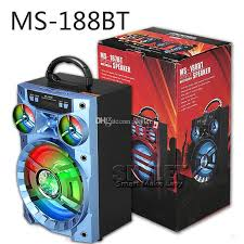 speakers big. best ms 188bt bluetooth speaker big sound hifi bass wireless subwoofer outdoor music box with usb led light tf fm radio package portable speakers o