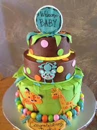 Baby Shower Cake Photos At Chester Heights PastryBaby Shower Safari Cakes