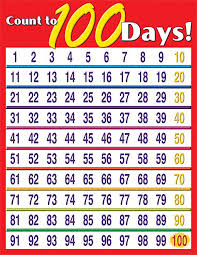 Count To 100 Days Chart 100th Day Of School Activities