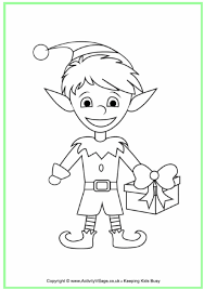 Small Picture Christmas Elf Colouring Page