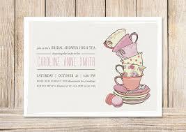 tea party templates free bridal shower tea party invitation templates bridal shower tea