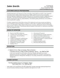 Free Sample Resume For Customer Service Sample Of Great Resume Great