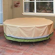 sure fit patio furniture covers. Sure Fit Deluxe Round Table And Chair Set Cover, Taupe Patio Furniture Covers H
