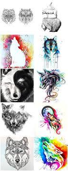 30 Great Wolf Tattoo Designs Nápad Tetování Vlka A Tetování