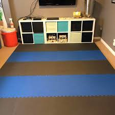 floor mats for home. Brilliant Floor Home Exercise And Play Mat 78 Inch Black Blue In Floor Mats For N