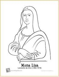 Mona Lisa Da Vinci Free Printable Coloring Page Makingartfun