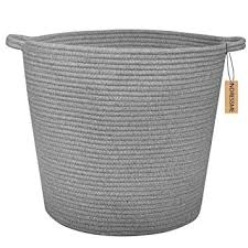 extra large woven laundry basket. Brilliant Large INDRESSME Extra Large Storage Baskets Cotton Rope Basket Woven Baby Laundry  With Handle For Diaper With Amazoncom
