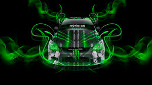 monster energy toyota altezza neon plastic car