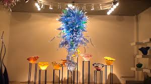 art glass lighting fixtures. Amazing Blue Blown Glass Chandelier For Home Lighting Fixture With Hanging Ceiling Ideas Art Fixtures