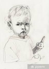 Carta Da Parati Disegno A Matita Bambino Pixers Viviamo Per