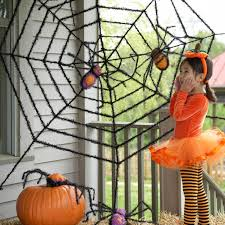 How To Make A Giant Spider Web Amazoncom Giant Spider Web And Giant Spiders Halloween