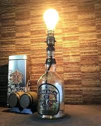 whiskey bottle lamp whiskey bottle lamp regal whisky with bulb on light kits lights making kit