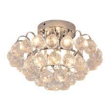 homcom crystal ceiling lamp chandelier