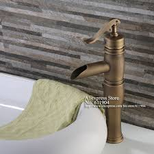 antique brass water pump style open spout bathroom faucet lavatory bar basin sink mixer taps 2210101 in basin faucets from home improvement on