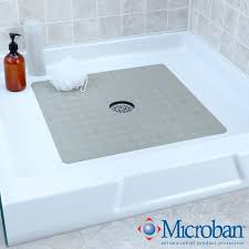 square rubber safety shower mat
