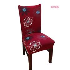 Home, Furniture & DIY <b>4Pcs</b> Removable Stretch <b>Dining Chair</b> Seat ...