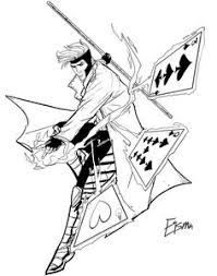 gambit by supajoe find this pin and more on lineart gambit x men