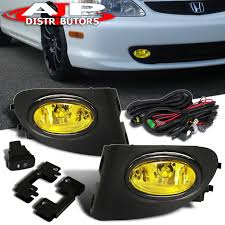 2005 Honda Civic Light Bulb Details About Amber Driving Bumper Fog Lights Lamps Switch For 2002 2005 Honda Civic Ep3 Si