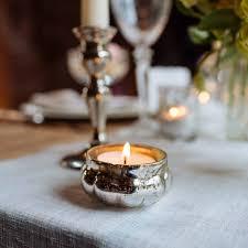 Wedding Tea Light Holders Mini Floating Mercury Silver Glass Tea Light Holder