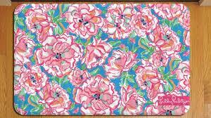 inspiring lilly pulitzer rug at fl tropical pattern 911 door mat carpet