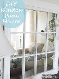 mirror window. diy window pane mirror