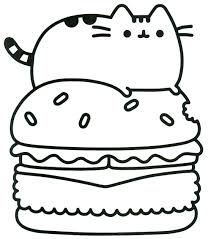 Coloring Pages Excelent Pusheen Coloring Pages Pdf Picture