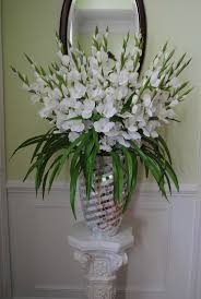 flower arrangements with gladiolus | Christmas Holiday Ideas: SNOW WHITE  SILK GLADIOLUS