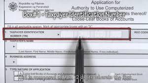 Box 1 Taxpayer Identifcation Number Bir Form 1900 Youtube