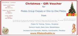 christmas gift vouchers now available for our dublin based pilates gift vouchers for pilates and fitness classes in dublin south dublin churchtown dublin