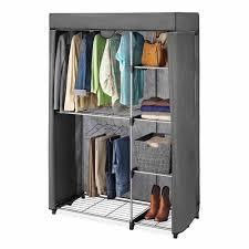 Portable Closet Rod Whitmor Deluxe Covered Double Hang Utility Closet Walmartcom
