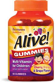 <b>Alive</b>! Children's <b>Gummy Multivitamin</b> Supplement, Cherry, Orange ...