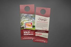 door hanger design real estate. We Can Make You And Your Firm Look Professional Using Our Custom Designed Real Estate Door Hangers. Hanger Design D